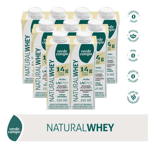 Shake Natural Whey Baunilha 250ml - Pack C/9un