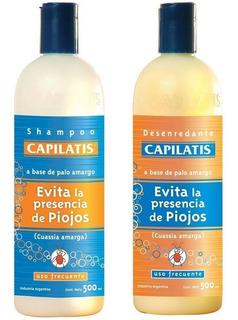 Kit Para Piojos Shampoo Desenredante Capilatis Uso Frecuente