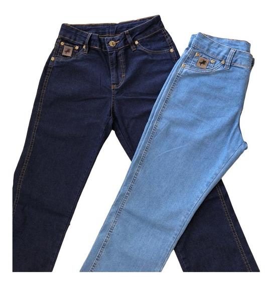 Kit 2 Calças Jeans Feminina Retas (rodeio Country) Original