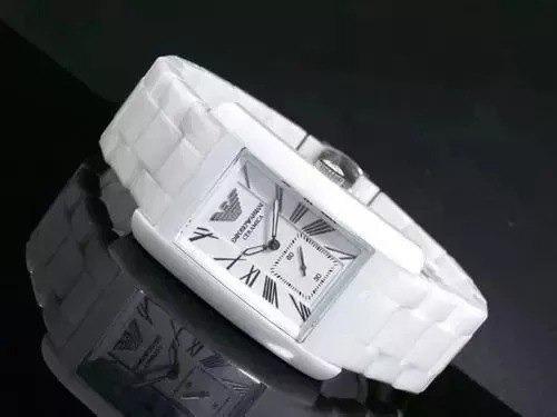 Relógio Emporio Armani Ar1408 Cerâmica Branca Lindo
