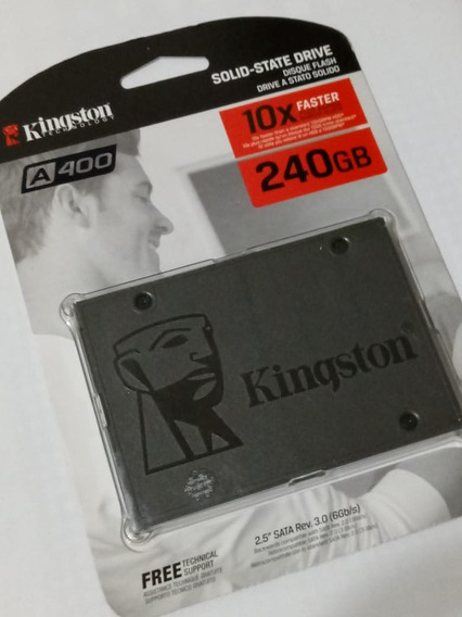Hd Hard Disk Kingston Ssd A400 240gb Sata 3 530mb/s - Novo