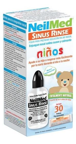 Lavador Nasal Neilmed Pediátrico Kit Incluye Bote C/30 Sob.