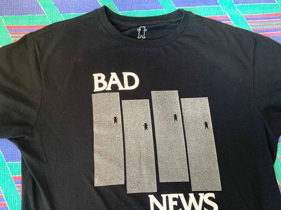 Camisa Camiseta Com Manga Grizzly Bad News