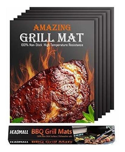 Headmall Grill Mat 6 Paquetes, Tapetes Antiadherentes Para P