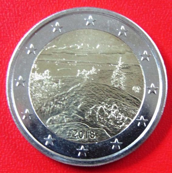 Finlandia Moneda Bimetalica 2 Euros 2018 Unc Koli