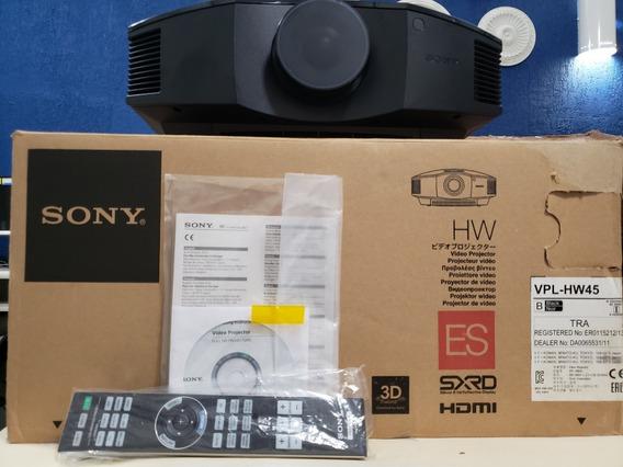Projetor Sony Vpl-hw45es C/ Apenas 17hs De Uso! + Brindes!