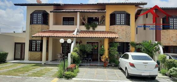 Casa Condomínio Fechado, Com 4 Dormitórios À Venda, 175 M² Por R$ 420.000 - Messejana - Fortaleza/ce - Ca0091