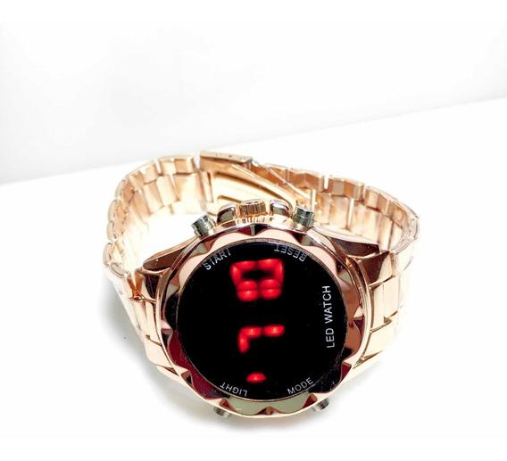 Relógio Led Digital Feminino Rose