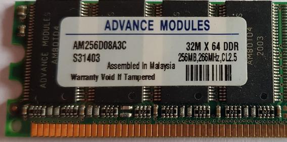 Memoria Ddr 256 Mb Pc2100 266 Mhz - Usada- En Villa Devoto