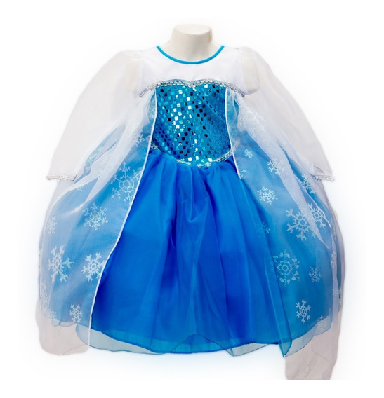 Vestido Frozen Princesa Elsa Disfraz