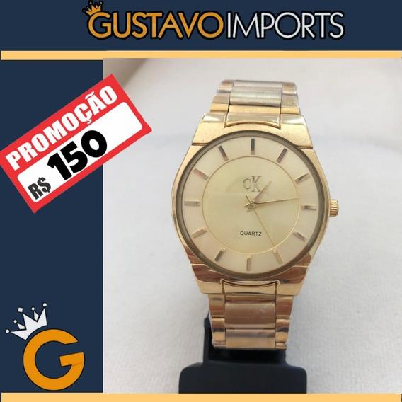Relógio Feminino Ck Dourado
