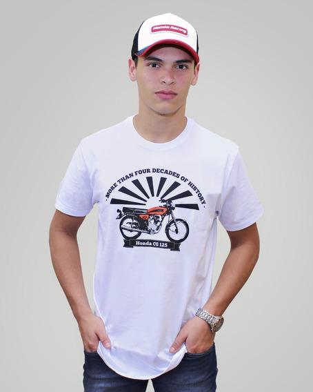 Camiseta Moto Honda Cg 125 - Coleção Asa Vintage - Produto Oficial