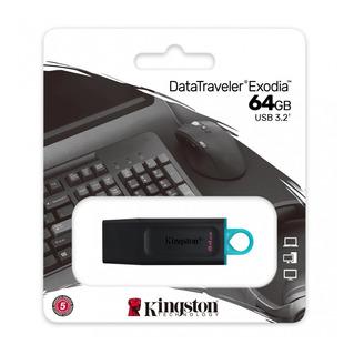 Memoria Usb Kingston Datatraveler 64gb Dtx 3.2 Negra Full