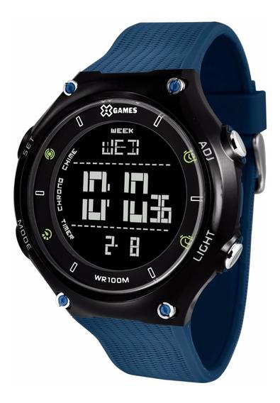 Relógio X-games Masculino Digital Xmppd455 Pxdx Azul Preto