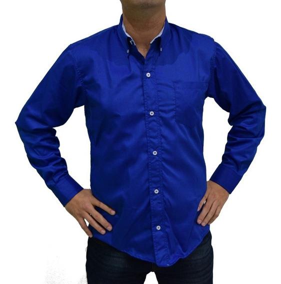 Camisa Gabardina Trabajo Uniforme Colores Ch - 3xl