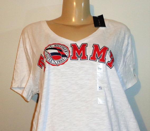 Tommy Hilfiger Camiseta Feminina Xl Brasil Gg Original Nova