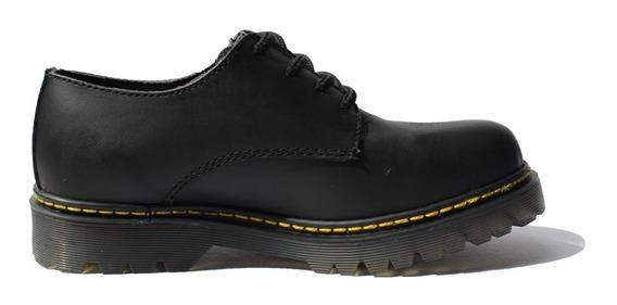 Zapato Tipo Dr. Martens ( Negro Mate )