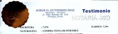 Terreno 200 M2 - Juliaca - Puno (frente Al Polígono)