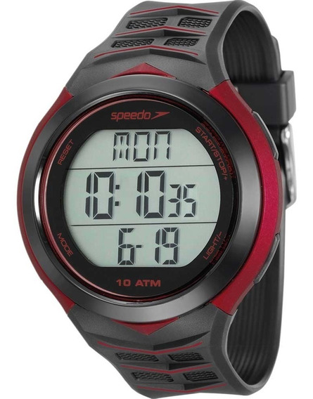 Relógio Speedo Masculino Preto Digital Sport 80621g0evnp1