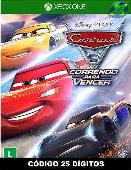 Carros 3 Correndo Para Vencer Xbox One - Código 25 Dígitos