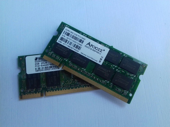 4 Gb Memória Notebook 2x2gb Ddr2 Pc2-6400
