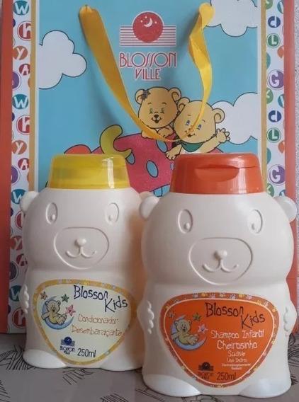 Kit Shampoo, Condicionador Desembaraçante Blosson Kids 250ml