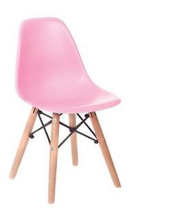 Cadeira Infantil Azul E Rosa Charles Eames Kids