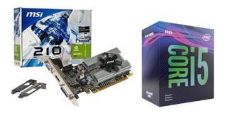 Kit Procesador Intel I5-9400f + Msi Tarjeta Video N210 1gb