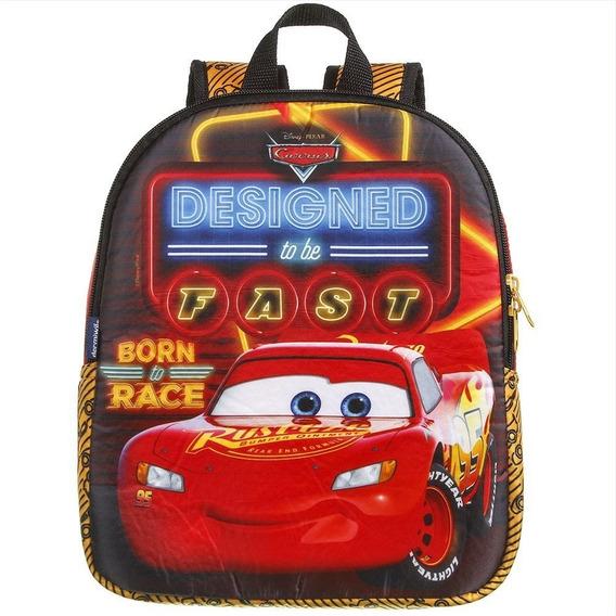 Mochila Escolar Infantil Carros Polinylon Mc Queen Dermiwil