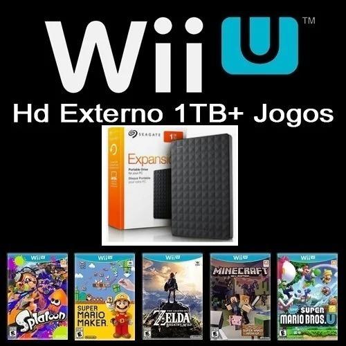 1tb Hd Ext Novo P/ Nintendo Wiiu + Cabo Y Para Ligar No Wiiu