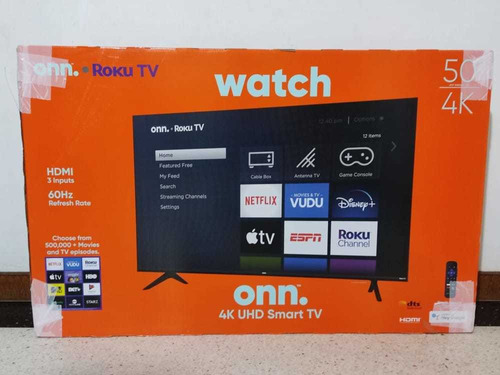 Smart Tv Marca Onn. Nuevo
