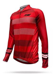 Camisa Asw Active Polka Manga Longa 18 Ciclismo Mtb Speed