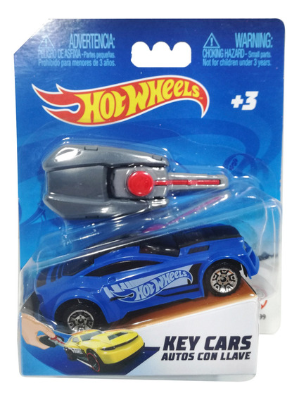 Hot Wheels Key Cars Autito Con Llave Lanzador 9.5 Cm