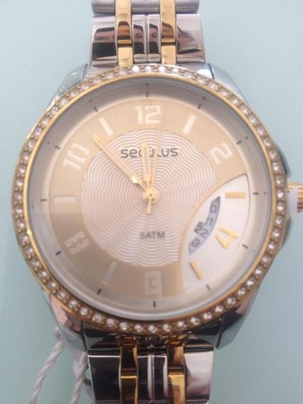 Relógio Feminino Seculus Analógico 20426lpsvbs2 Aço Misto
