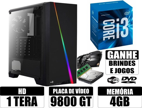 Cpu Gamer Core I3 4gb 1tb Wi-fi + Brindes / Gta V Cs Go