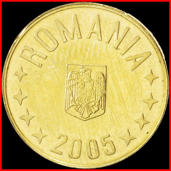 Rumania Hermosa Moneda De 1 Bani Año 2005 Sin Circular