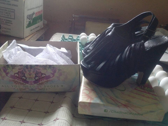 Zapatos De Mujer Negros Marca Verona N°38 En Caja