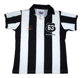 Camisa Santos Infantil Retro Pepe 1963 Listrada Mundial 63