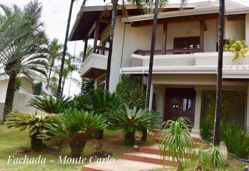 Casa Com 3 Dormitórios À Venda, 502 M² Por R$ 2.500.000 - Condomínio Monte Carlo - Valinhos/sp - Ca1733