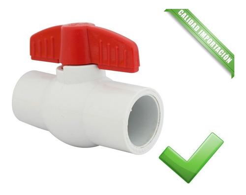 Válvula Esférica Agua Riego Plastica Pvc 2'' Fiting Shop