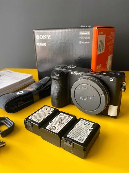 Sony Alpha A6500 Anatel Nacional 3 Bateria E Acessório
