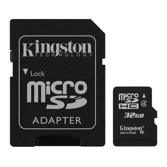02 - Cartão De Memória Micro Sdhc 32 Gb Com Sd Classe 4