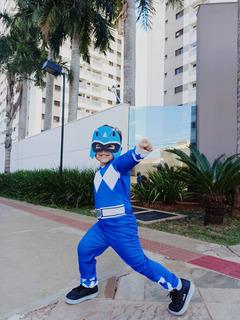 Fantasia Power Ranger Infantil Musculoso Enchimento