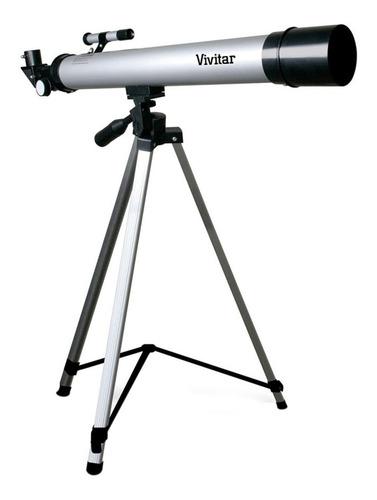 Telescópio Refrator Vivitar Vivtel50600 Com Tripé 60x E 120x