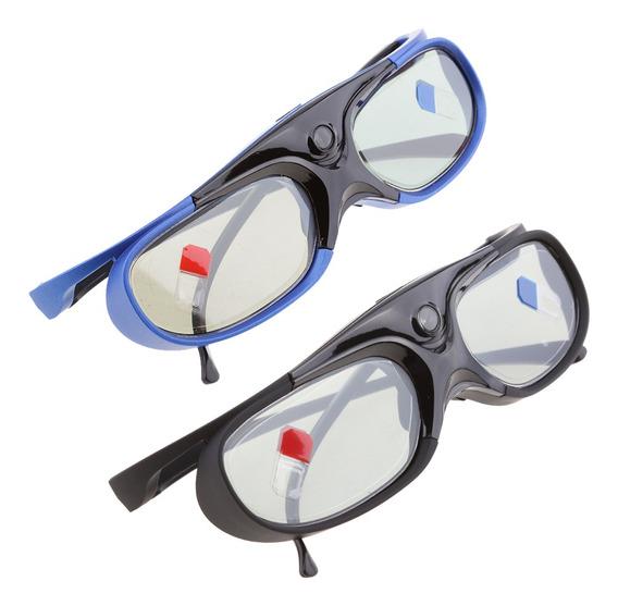 2x Óculos 3d Recarregável Para Dlp -link Projetores De Per
