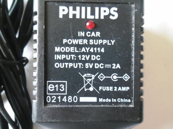 Fonte Para Dvd Portatil Veicular Original Philips Mod.ay4114