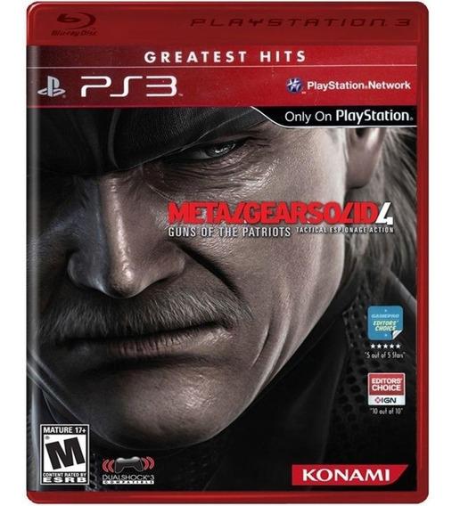Jogo Mídia Física Metal Gear 4 Original Para Ps3