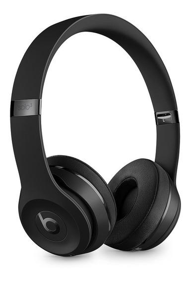 Fones De Ouvido Apple Beats Solo3 Bluetooth - Preto Fosco