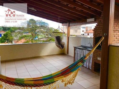 Cobertura Com 2 Dormitórios À Venda, 86 M² Por R$ 272.000,00 - Vila Helena - Santo André/sp - Co0837