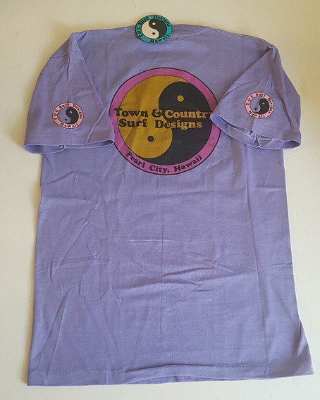 Playera Vintage Town And Country Surf Designs 80s Nueva